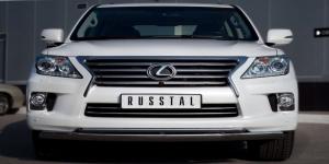 Lexus LX 570 2012 Защита переднего бампера d75x42/42 LLXZ-000864
